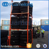 Grande racking Stackable do pneu do armazém do metal