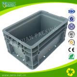 Caixa de plástico pesada de cor azul para logística