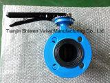 Тип диск фланца Qt450 клапан-бабочки 1.4529 с рукояткой