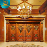 Style europeu Double Door para Villa com Carving (DS-9002)