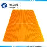 2100 * 6000 mm de policarbonato Panel de esmerilado de sol con UV