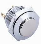 Interruptor pulsador de Terminales de latón con protección IP65