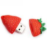 Fruit USB Flash Drive Customized PVC Food Memory Stick
