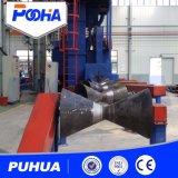 Machine de nettoyage à sec de grenaillage à tuyaux en acier