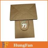 Bolso de compras de encargo de la bolsa de papel de Kraft de la talla con la maneta de la torcedura
