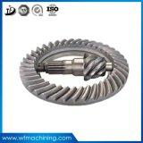 Attrezzo di dente cilindrico elicoidale dell'azionamento del dispositivo d'avviamento dell'attrezzo del metallo di precisione dell'OEM/ingranaggi conici di spirale/pignone della parte superiore