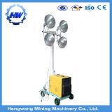 発電機の移動式照明タワー