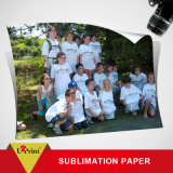 Roulis chaud de papier de sublimation de papier/T-shirt de photo de sublimation de teinture de vente