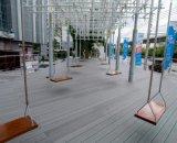 Decking creux composé en plastique en bois du matériau de construction/WPC