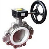 Azionatore Operated Teflon PTFE Lined Butterfly Valve per Chemical Industry