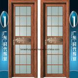 Puerta con bisagras aluminio con las bisagras del acero inoxidable