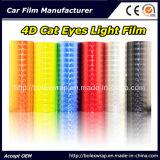 pellicola dell'involucro dell'automobile della pellicola dell'indicatore luminoso dell'automobile della pellicola della lampada dell'automobile del PVC degli occhi di gatto 4D con 12 colori