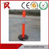 Poste rouge r3fléchissant en plastique de dessinateur de ressort de PVC de T-Dessus de circulation de sécurité routière