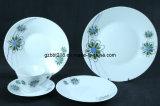 Dinnerware definido com o padrão floral, Conjunto de 20