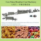 Copos de maíz el cereal de desayuno la máquina