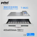 Puhui Infrared BGA Reflow Forno T-962c, SMT Reflow Oven, PCB LED Wave Soldering Machine, Benchtop Reflow Oven, Máquina de solda, PCB Assembly