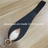 La cinghia di cuoio della signora Fashion Black Waist, abito delle donne decora la cinghia