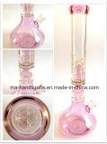 Tubulação de água de fumo da taça de vidro cor-de-rosa de 18 polegadas/tubulações de água de vidro