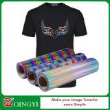Vinilo encantador del traspaso térmico del holograma de Qingyi para la camiseta