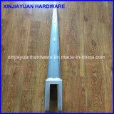 Attache en acier galvanisée modifiée aiguë de poste avec l'écartement (71X71X750mm)