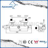 El latón de la ducha del cuarto de baño cromado Anti-Escalda el golpecito termostático (AF4102-7)