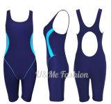 Frauen-drücken einteilige Badeanzug-Sport-Badebekleidung oben Badeanzüge