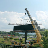 Auto-estrada exterior forte estrutura de aço para painéis de publicidade personalizada