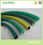 Ясным PVC пластмассы прозрачным или цветастым заплетенный волокном усиленный шланг воды сада полива
