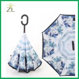 Overhandigt de Vrije Omgekeerde Paraplu van de Auto