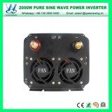 inversor puro da potência de onda do seno de 2000W DC12/24V AC220/110V (QW-P2000)