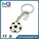 O Keyring novo do metal da esfera de futebol 2017, cortou a forma Keychain, Keychains para o esporte