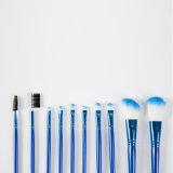 10 Borstel Van uitstekende kwaliteit van de Make-up van PCs de Lichtblauwe