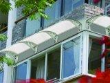 Wasserdichter Tür-Kabinendach-Wind-beständiger Aluminiumplastiksonnenschutz-Regen-Deckel für Balkon