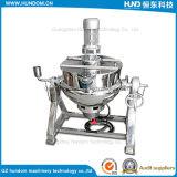Calefacción de gas del acero inoxidable que inclina la caldera de cocinar vestida con el mezclador