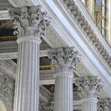 Intérieur en extérieur pilier de sculpture sur pierre de colonnes en marbre romain