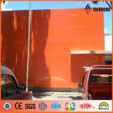 PVDF überzogenes orange, rotes, schwarzes zusammengesetztes Aluminiumpanel