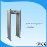 Caminhada múltipla das zonas através do detetor de metais da segurança com função da tela do LCD e da rede do PC