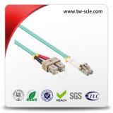 Conector de fibra óptica LC dúplex con virola de fibra cerámica de la UPC APC