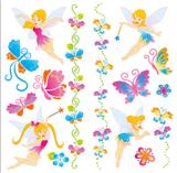 Fairy временно Tattoo искусствоа стикера Tattoo переноса воды Tattoo