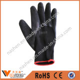 黒いニトリルの安全作業手袋