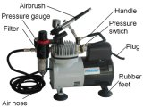 Компрессор Airbrush Af18-2 Fundation для состава и косметика с вентилятором