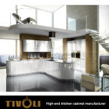 WhieのクルミのBacksplashデザインTivo-0202hの光沢度の高い絵画台所