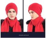 Winter-weiche gestrickte Wolle-Hut-Schutzkappen für Männer und Frauen