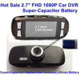 Hot Sale 2,7 polegadas Dash Camera Gravador de vídeo digital Car DVR com WDR, Night Vision, G-Sensor, Super Capacitor, H. 264, 5.0mega Car Camera DVR-2712c