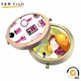 Cheap Promotional Gifts Pocket / Makeup / Cosmetic Mirror with Epoxy Sticker / Printing Logo