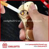 Allumeur électrique de cigarette de fileur de sous-chef d'équipe des lumières colorées USB de forme de S