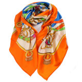 Écharpe de mode de soie de 100% longue pour les femmes