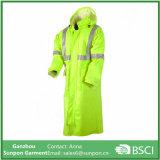 Новое длиннее реверзибельное пальто дождя в желтом цвете