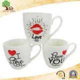 Taza de la porcelana del regalo de la tarjeta del día de San Valentín para el amor en tazas de la fábrica de China