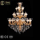 Präfekt-goldene Zink-Legierungs-Kristallleuchter-Licht